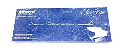 Marcal Deli Wrap Interfolded Wax Paper. Dry Waxed Food Liner Jumbo Size 15 Inch by 10.75 Inch.