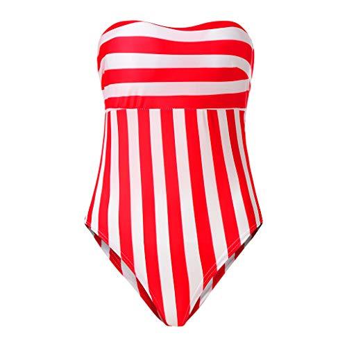 Alikey 1 badpak, gewatteerd, gestreept, voor dames, bikini, elegant, slank, shorty, chique badpak, voor dames, vintage, strand