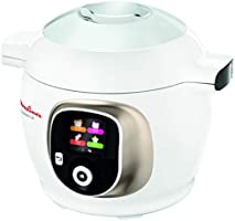 Moulinex Cookeo + CE851A Multicooker, 150 Ricette Italiane Pre-impostate, 6 Modalità di Cottura, Cottura Automatica,...