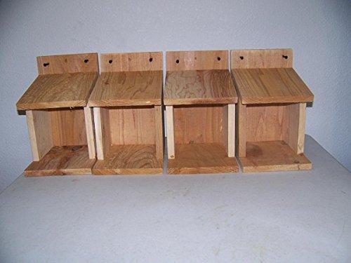4 Robins, Doves, Cardinals Nesting Shelve Platform Handmade By Cedarnest Free S/h