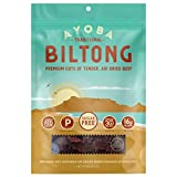 Ayoba Biltong - Grass Fed, Keto and Paleo Certified Air-Dried Beef Snack - Better Than Jerky Tender Steak Cuts - Whole 30 Approved, No Sugar, Gluten Free, No Nitrates (4 Ounce)