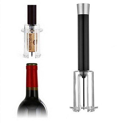 Cavatappi per vino ad aria compressa (nero/rosso). regali san valentino per lui,Nero Apribottiglie Vino per Sommelier Accessorio per Il Vino, in Alluminio, Idea Regalo Compleanno San Valentino