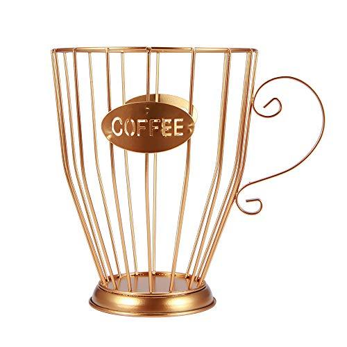 HaavPoois Porta capsule da caffè e tazza organizer, portabicchieri porta capsule caffè ed espresso, porta capsule caffè cestello portaoggetti da cucina portaoggetti per capsule