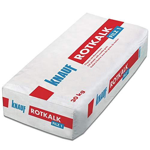 Knauf Rotkalk Filz 1mm Filzputz mit Marmorkorn