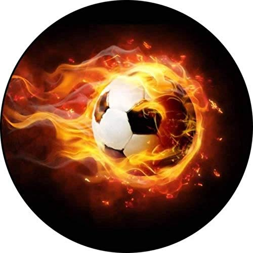 Fußball Thema-3 Runde Tortenaufleger 20CM - Geburtstag Tortenbild Zuckerbild Tortenplatte Oblate Kuchenzuckerplatte