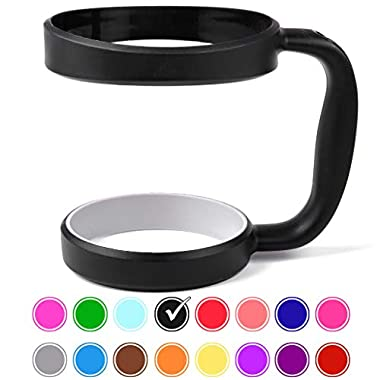 30 oz Tumbler Handle (BLACK) by STRATA CUPS - 16 COLORS - Available For 30oz YETI Tumbler, OZARK TRAIL Tumbler, Rambler Tumbler- Black, Gray, Purple, Teal, Pink, Gray, Red & More - BPA FREE