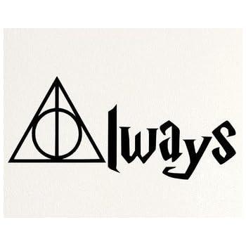Wandtattoo Aus Weissem Vinyl Mit Motiv Always Harry Potter Fur Auto Laptop Fenster Wandaufkleber Amazon De Baumarkt