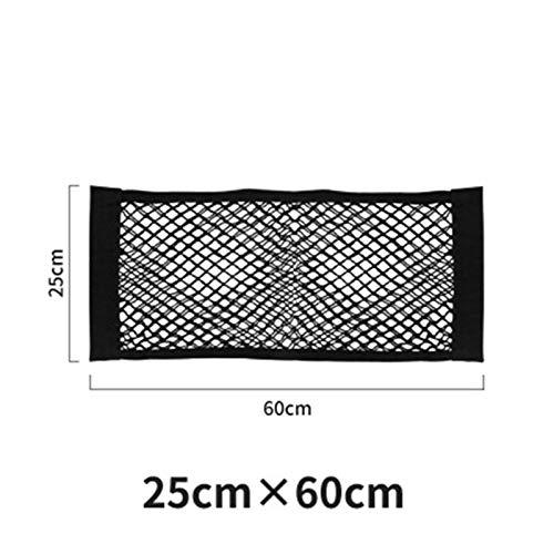 mlzaq Universal Mesh Cargo Net Velcro Coche Almacenamiento Red Etiqueta de Pared Organizador Bolsa Bolsa Malla de Malla Net para Almacenamiento de Tronco de Coche (Size : 25X60)