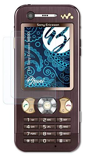 Bruni Schutzfolie kompatibel mit Sony-Ericsson W890i Folie, glasklare Bildschirmschutzfolie (2X)