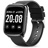 Smartwatch Fitness Donna Uomo Gokoo Orologio Cardiofrequenzimetro e Contapassi e Calorie da Polso Sportivo Activity Tracker Impermeabile IP68 per Android iOS (Nero)