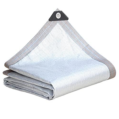 WBXZAL Papel de Aluminio de Malla sombreo con Ojal 99% UV Anti-envejecimiento Malla de Sombra Invernadero para jardín toldo de Vela Planta balcón sombrillas al Aire Libre toldos-3x10m / 9x32ft