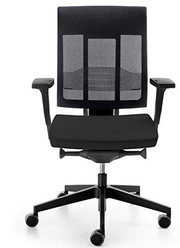 ProfiM Drehstuhl Xenon NET mit Armlehnen Bürostuhl Arbeitsstuhl Schwarz Netzrücken