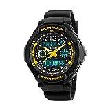 Orologio per bambini, orologio per ragazzi Orologio da polso analogico impermeabile digitale multifunzione sportivo da 6-18 anni con allarme a LED e data di calendario