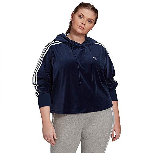 adidas Originals Sweat à Capuche Femme Velour Cropped
