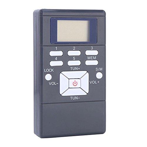 Heayzoki Kleines tragbares FM/AM-Taschenradio, tragbares Mini-LCD-FM-Radio Digitale Signalverarbeitung Drahtloser Empfänger mit Kopfhörer, AAA-Batterie zum Gehen, Joggen & Camping(Grau)
