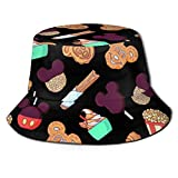 Trushop Unisex Snacks for Days - World Bucket Hat Sun Hat Impreso Fisherman Packable Travel Hat Fashion Outdoor Hat