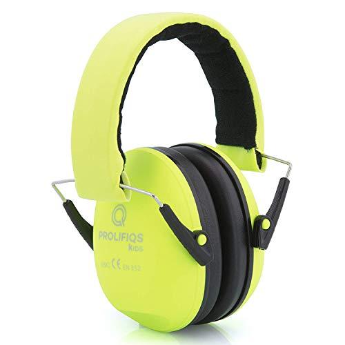 Prolifiqs Gehörschutz Kinder und Jugendliche I Lärmschutz Kopfhörer für Kinder + Jugendliche von 3 bis 16 Jahre I PVC-freie Lärmschutzkopfhörer für Jungen I Grün