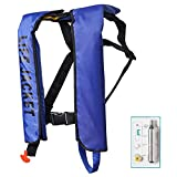 Inflatable Life Jacket, Automatic/ Manual Inflatable PFD Life Vest for Adults,Auto Blue