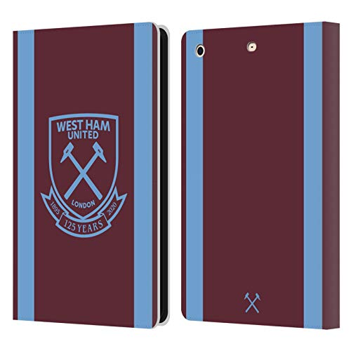 Official West Ham United FC Home 2020/21 Crest Kit Leather Book Wallet Case Cover Compatible For Apple iPad mini 1 / mini 2 / mini 3