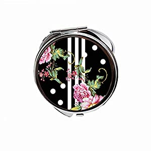 Compact Round MakeUp Mirror Folding Mini Pocket Mirror Portable For Woman Mother kids Great Gift 2.75 inch