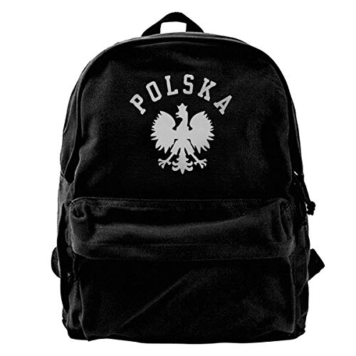 School Bag Polska Polish Country Pride Canvas Backpack Lightweight Book Travel Backpack Cute Birthday Laptop Backpack Print Women Men Unique Daypack Casual School Shoulder Bags GIF