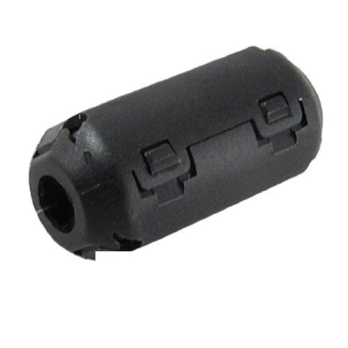 Gino UF35B 5mm Inner Diameter Black Core Ferrite Cable Clip 10 Pcs