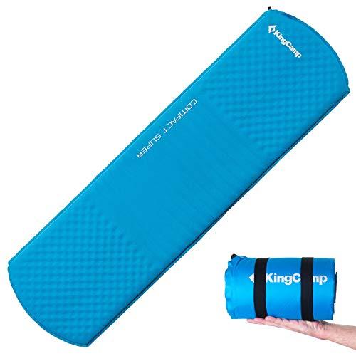 KingCamp Thermo Iso Matte Compact TPU Luftmatratze Selbstaufblasend 1 kg Leicht Deep Sky Blue