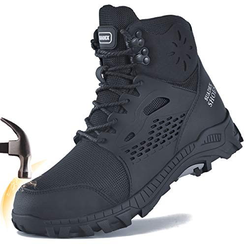 SUADEX Steel Toe Boots for Men Work Construction Boots...