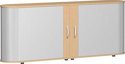Gera Möbel, B x T x H 2000 x 400 x 830 mm, 2 OH, 1 Boden, Justierfüße Rollladenschrank, buche, 60 x 42 x 84 cm