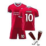 MEASBQ 2021 Uniformes de fútbol a Domicilio y de fútbol, 10# Mane Football Jerseys, Ropa Deportiva de fútbol para Hombre y Infantil, Fan fútbol Camisetas, Regalos para f red-24
