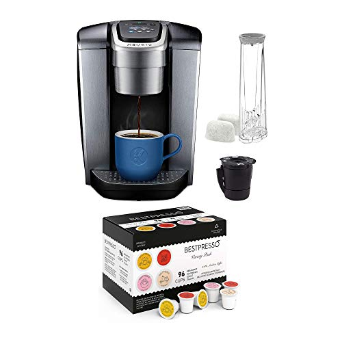 Keurig K-Elite Single Serve K-Cup Pod Programmable Coffee Maker with Extra Filter and 96-Count K-Cup Set Bundle (2 Items)