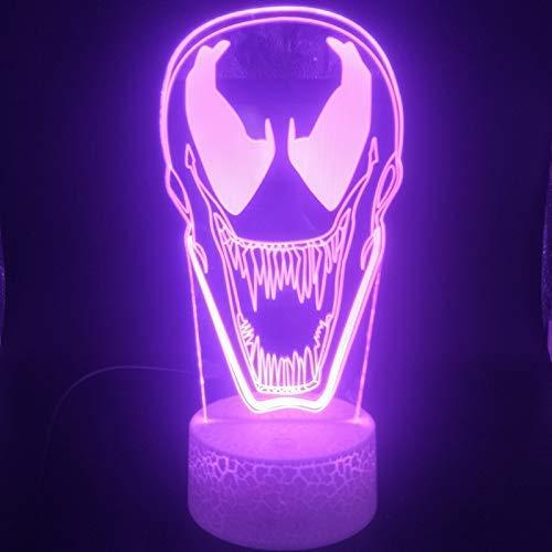 Augentropfen Anti Venom 3D-Licht Nachtlichthalter Powered Interior USB Nachtlicht LED-Licht