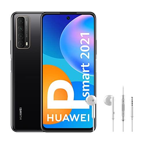 HUAWEI P Smart 2021 + CM115 - Smartphone de 6,67 Pulgadas Full HD, 4GB de RAM y 128 GB de ROM, 5000 mAh de batería, Cuádruple cámara 48 MP, Negro [Versión ES/PT]