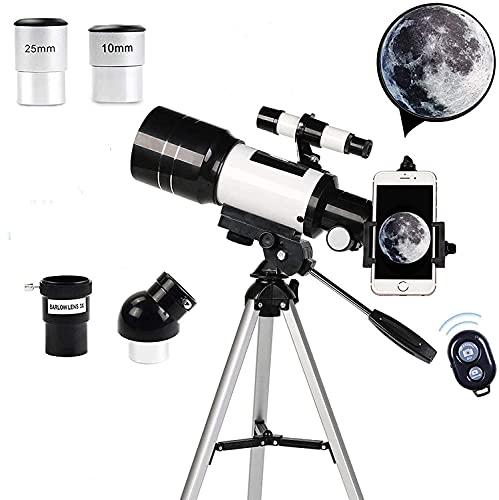 Lucario Telescope 70mm Astronomical Refracting Telescope Portable Children Adult Beginner Monocular Professional...