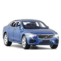 合金ダイキャストカー 1:32 S90車のモデル合金の車のダイキャストおもちゃの車のモデル音が付いているカーモデルを引き戻す子供のおもちゃのグッズ ミニカーダイ (Color : Boxed Blue)