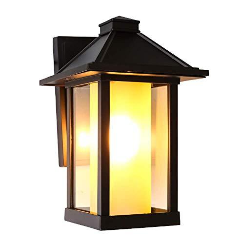 Lámpara de pared para exteriores Vintage Loft E27 Victorian Galss Linterna de pared Lámpara de porche antigua Retro Exterior Luces de pared impermeables Lámpara de calle Óxido Lámpara de pared LED pa