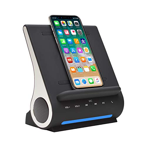 Azpen Speaker Docking Station With Qi Wireless Charger for iPhone