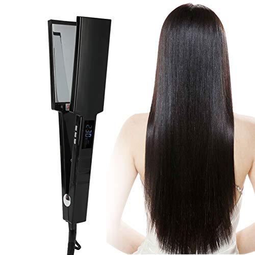 Rizador de pelo, plancha de pelo de iones negativos de temperatura ajustable...