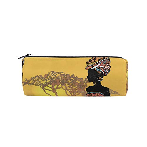 IOPLK Kulturbeutel runde Federmäppchen Kosmetiktasche Federmäppchen CCDMJ Ethnic Mandala Peace Symbol Pen Pencil Case Bag Holder Zipper Organizer Students Stationery Bags Makeup Brush Pouch for Kids G