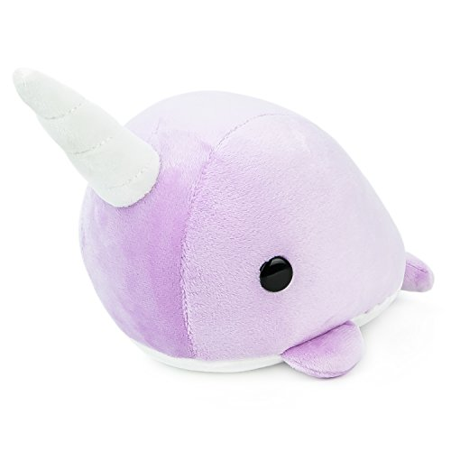 Bellzi Purple Narwhal Cute Stuffed Animal Plush Toy - Adorable Soft Whale Toy Plushies and Gifts - Perfect Present for Kids, Babies, Toddlers - Narrzi
