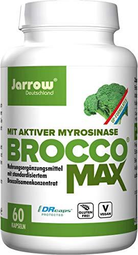 BroccoMax, Brokkoliextrakt mit aktiver Myrosinase, 60 vegane Kapseln, hohe Bioverfügbarkeit, ohne Gentechnik, Jarrow Deutschland