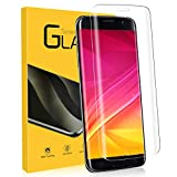 NONZERS Cristal Templado para Samsung Galaxy S7 Edge, [1 Unidades] 3D Cobertura Completa 9H Dureza Vidrio Templado, Alta Sensibilidad, Pegamento en Toda la Pantalla Protector de Pantalla para S7 Edge