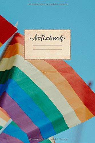 Notizbuch: liniert, 100 Seiten, DIN A5 Format, weißes Papier, glänzendes Softcover für hochwertiges Design | Notizheft - Tagebuch - Journal - Planer | ... Himmel Fahnen Statement Farbig Bunt Homo