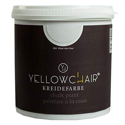 Kreidefarbe yellowchair 1 Liter ÖKO für Wände und Möbel Shabby Chic Vintage Look (No. 304 hellgrau)