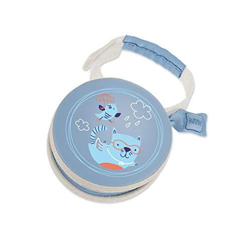 MAM Pod Schnullertasche, praktisch für die Aufbewahrung von 2 Schnullern, Schnullerbox mit Klettverschluss zur flexiblen Befestigung, Katze