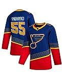 Hombres Hockey St. Louis Blues # 55 Parayko Jersey Sudaderas NHL Cómoda y Transpirable Camiseta de Manga Larga Multicolor S-3XL