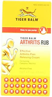 Tiger Balm Arthritis Rub, 4 Fluid Ounces (113 ml) (Pack of 2)