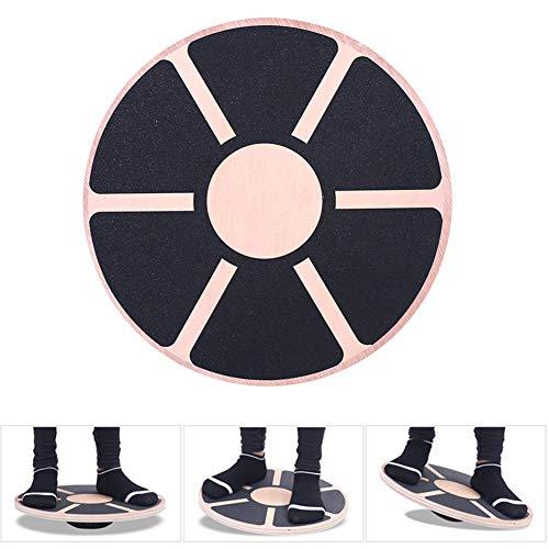 lxfy Tragbares und kompaktes Wackelbalance-Brett aus Holz - Übung im Fitnessstudio oder im Stehen am Schreibtisch - Fitness-Ausdauertanz-Bewegungstrainer - Knöchel-Physiotherapie-Training