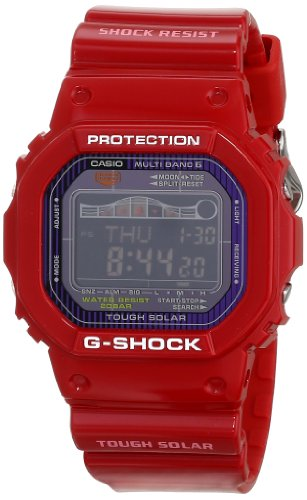 Casio Men's GWX5600C-4 G-Shock G-LIDE Red Resin Digital Watch