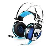Hancoc Gaming Headset Headset Micrófono Estéreo Estéreo Bajo Las Luces Envían Un Minuto Y Dos Cables De Audio